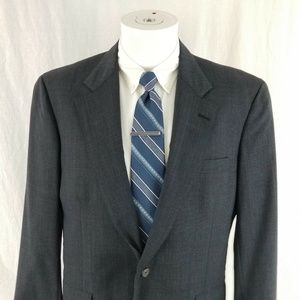 Brooks Brothers Makers 40 R 2 Button Gray Blazer